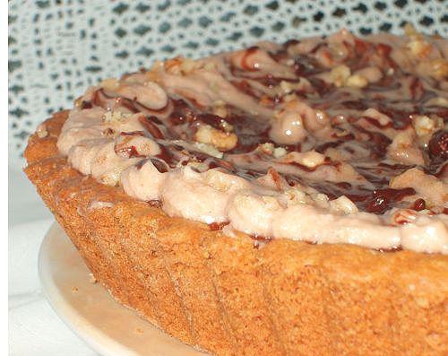 Очень вкусный пай! Любители шоколада и орехов останутся довольны!