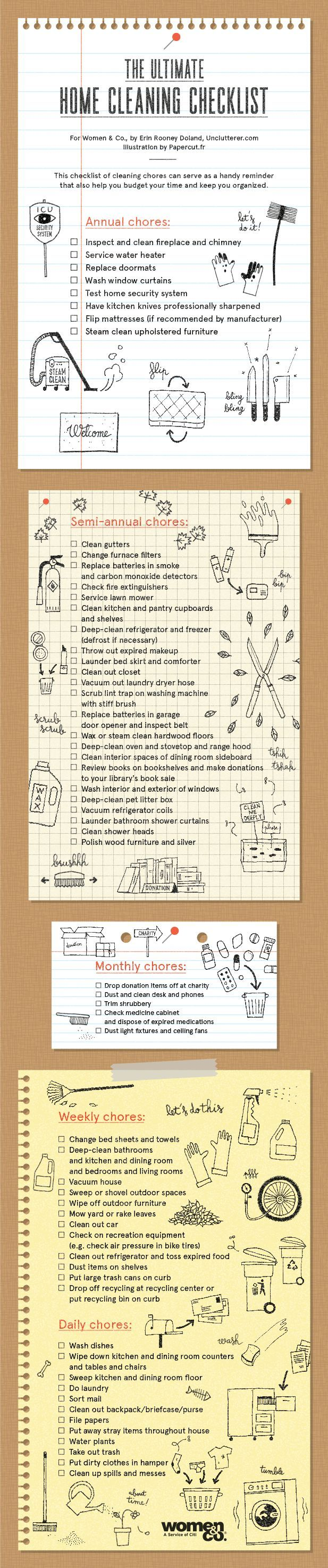 Bathroom checklist for cleaning - Need This Ultimate Home Cleaning Checklist