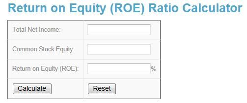 Return on Equity Calculator @ www.investingcalculator.org/return-on-equity.html  #Investing #Investment #Calculator #Formula #Online #Free #Tool #Return #on #Equity #Total #Net #Income #ROE #Common #Stock #Equity