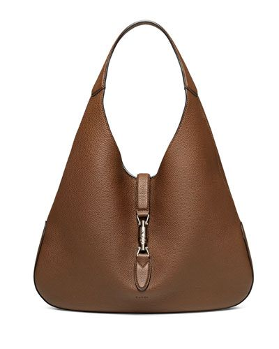 Gucci's Jackie Soft Leather Hobo Bag, Luggage Brown - Replica of the iconic Gucci bag Jackie O. carried in the 70's.