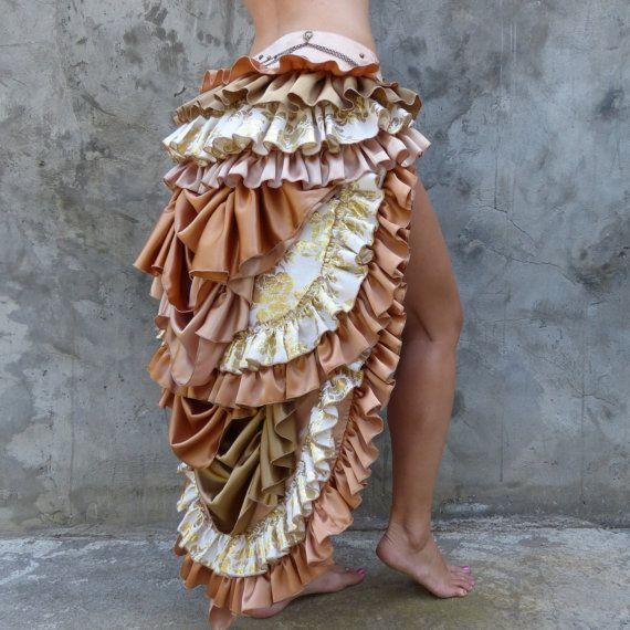 40% off SALE : Pink Bustle Skirt / gypsy goddess / by LadeeTaha