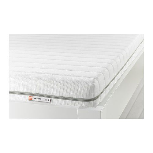$199 Double - Ikea - MALFORS, Foam mattress, Double, firm/white - Ollie or Guest room