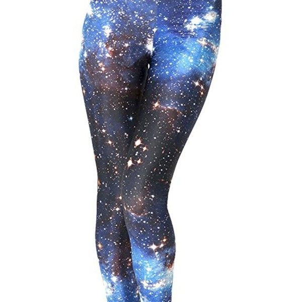 Idingding Womens Hot Sale Galaxy Star Printed High Waist Leggings... ($13) ❤ liked on Polyvore featuring pants and leggings