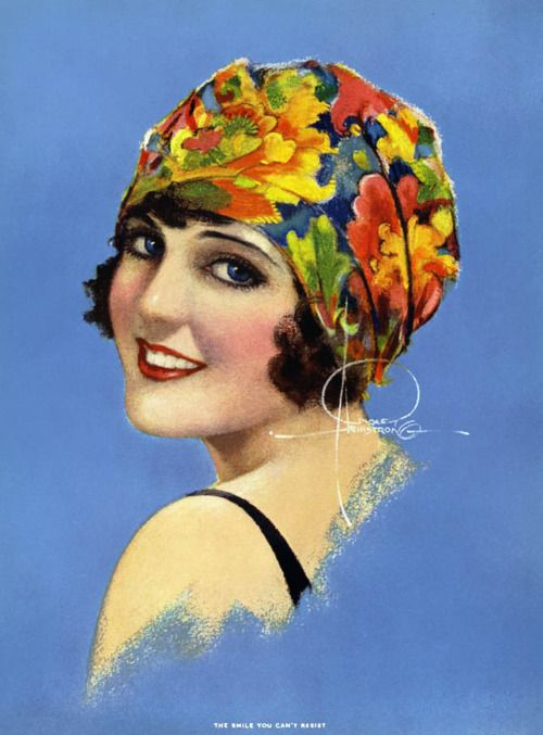 Rolf Armstrong, 1930s, artwork, vintage, The Smile You Can't Resist.