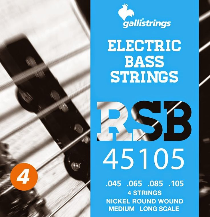 RSB 45105 4 strings nickel round wound medium .045 -.065 -.085 -.105 RSB A nickel wrapped hexagonal core with a rough surface for those looking for a sparkling timbre, with a metallic sound, and long lasting. Gallistrings delivers the freshest strings stright from our facility to your instrument!