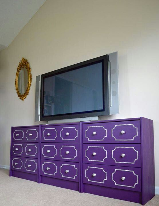 Purple credenza from chests of drawers