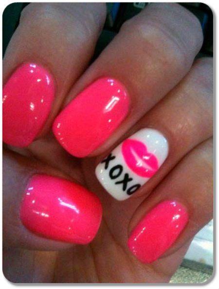 Simple Valentine's Day Nail Art Designs