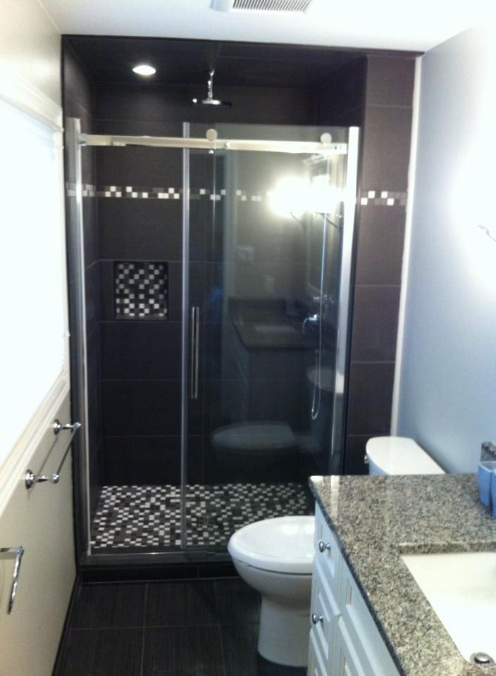 Tex Black 13x26 and Gris 1x1 mixed mosaic