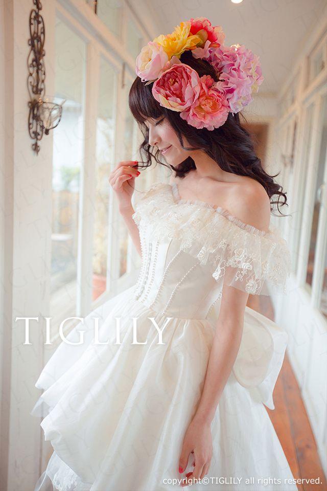 【TIGLILY】ウェディングドレス_ミニドレス(s098)