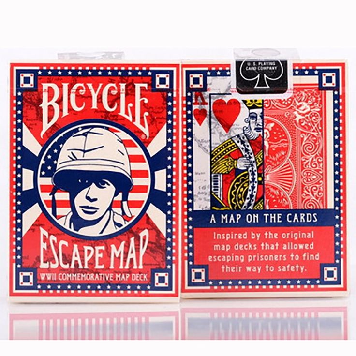 bicycle escape map playing cards magic category poker
