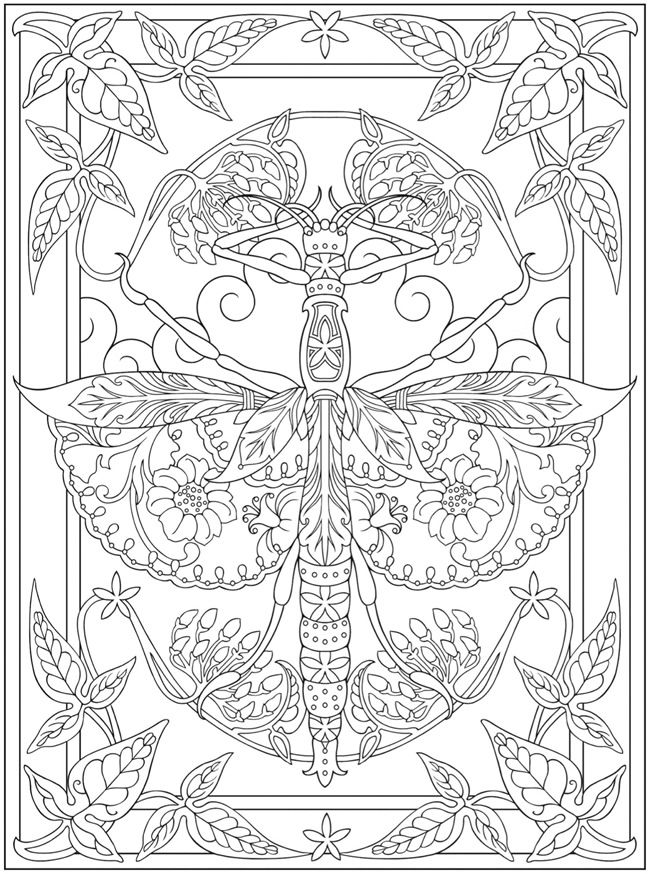 Dragonfly FREE Printable Abstract Adult Coloring Page