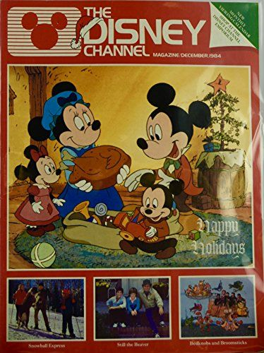 1984 - December - The Disney Channel Magazine - Happy Holidays Cover @ niftywarehouse.com #NiftyWarehouse #Disney #DisneyMovies #Animated #Film #DisneyFilms #DisneyCartoons #Kids #Cartoons