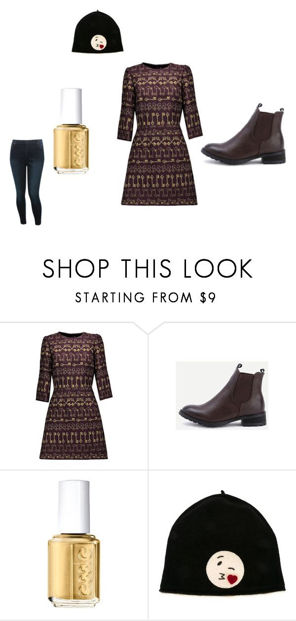 NOËL by alicejudo on Polyvore featuring mode, Dolce&Gabbana, M&Co, Le Chapeau by Alakazia and Essie