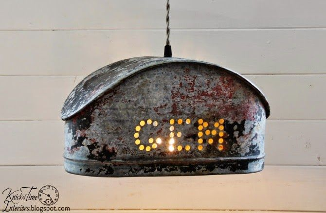 Farmhouse Industrial Water Pump Hanging Light by http://knickoftimeinteriors.blogspot.com/