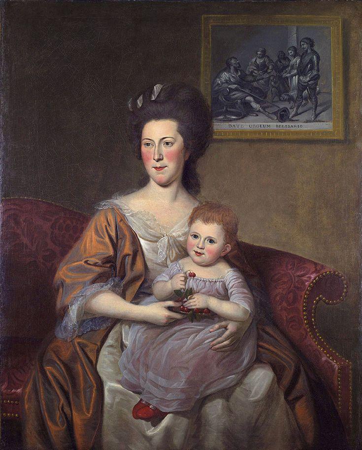 Mrs Thomas McKean (Sarah Armitage) and Her Daughter, Maria Louisa by, Charles Willson Peale (1741 - 1827).jpg