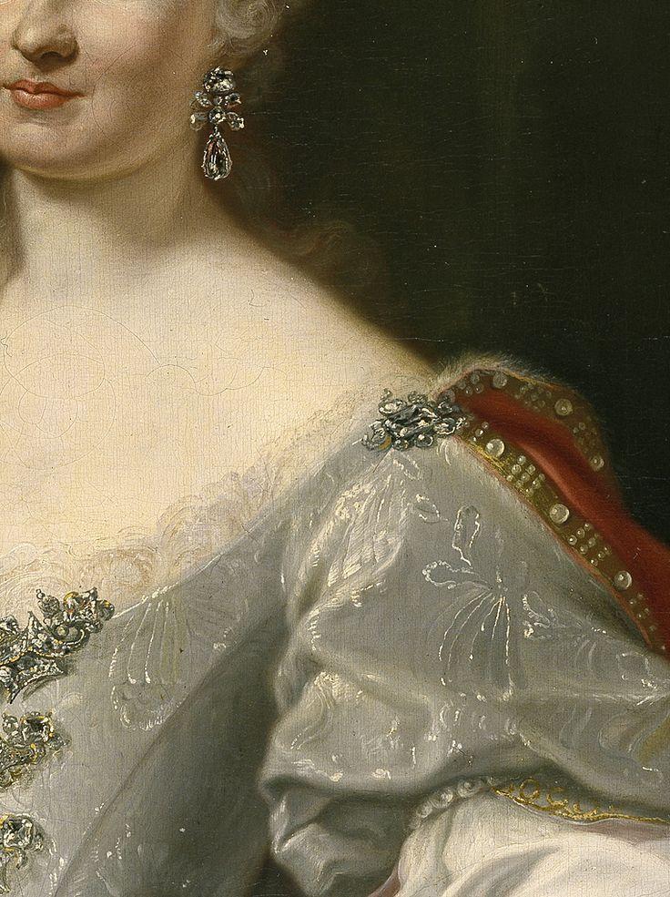 Marie-Amélie de Saxe, princesse de Pologne, reine consort de Naples et de Sicile, reine titulaire de Jérusalem, puis reine consort d'Espagne comme épouse de Charles III (1724-1760) - Giuseppe Bonito