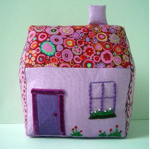 Crafty and Whimsical Handmade Fabric House - Follow the tutorial and learn to make your own.