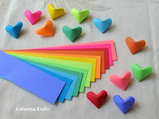 Katherina Krafts: Instructions on How to Fold Origami Hearts