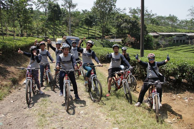 "BRI ""Breakthrough"" corporate outing = Fun cycling at Bandung! #Caldera_Indonesia"