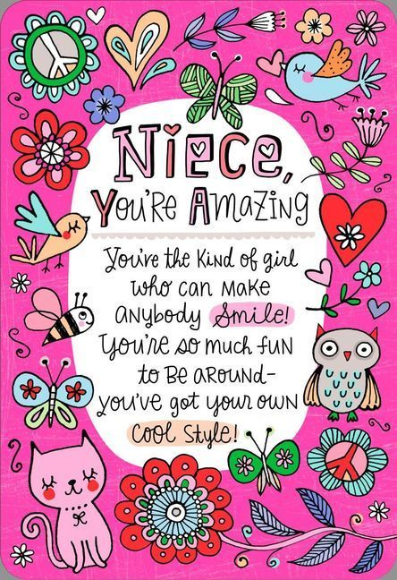 Youre The Niece Families Dream About Birthday Card Aunt Birthdayquotes