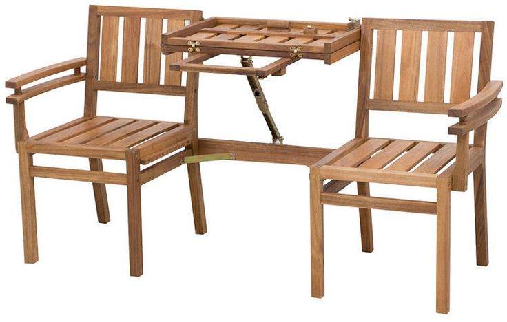 Modułowa ławka wykonana z drewna akacjowego. Funkcjonalne rozwiązanie mebla na balkon lub taras. Do zastosowania jako ławka trzyosobowa lub krzesła ze stolikiem.  http://meblefann.pl/product-pol-116-Lawka-LOVE-SEATTLE.html