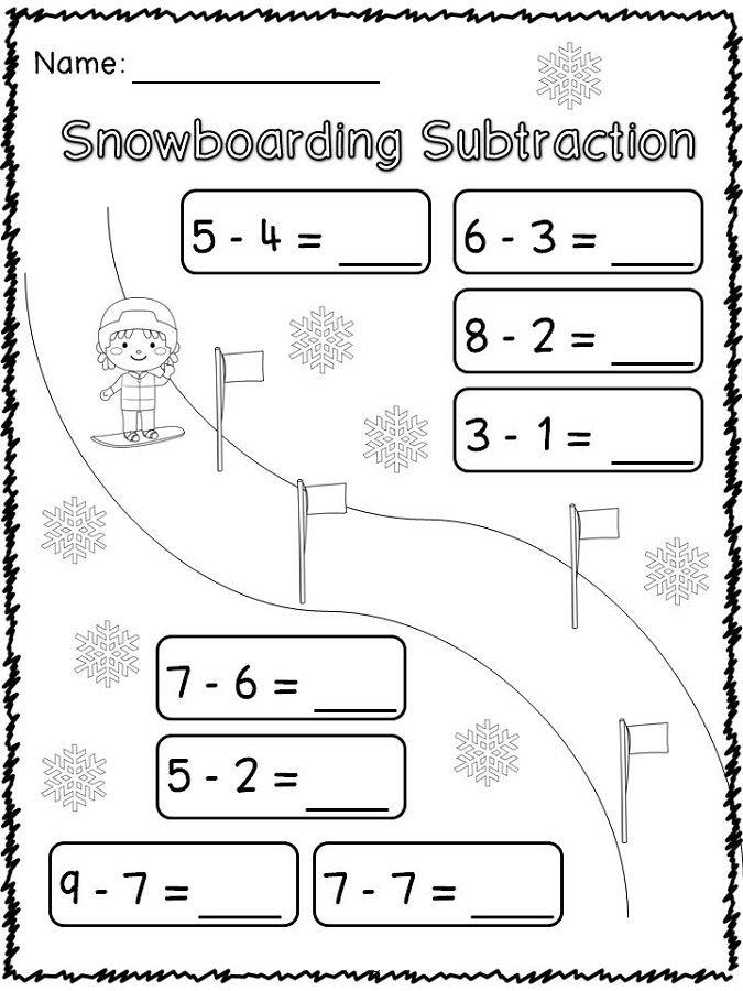 Sports Worksheets For Kids Subtraction K5 Worksheets Math Printables Math Worksheets For Kids