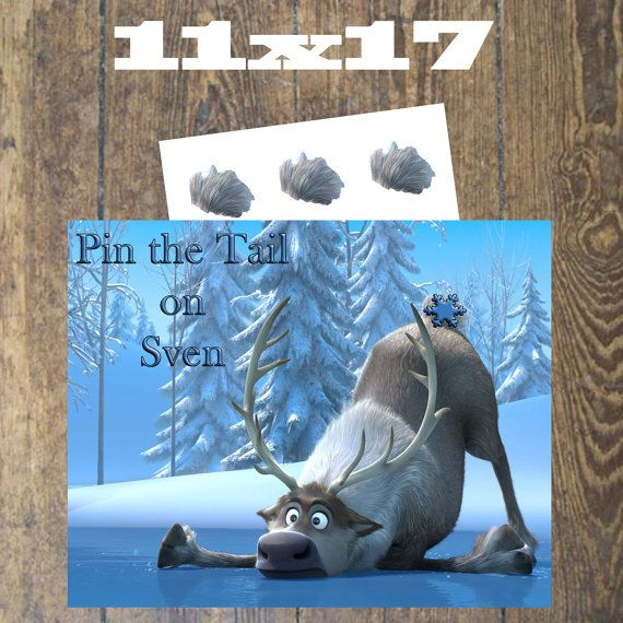 Pin the Tail on Sven Instant Download Frozen by DesignsbyCarrieLee, $2.25