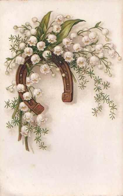 Lucky horseshoe and flowers