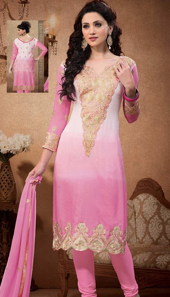 Select the Bollywood Latest Baby Pink Cotton #PartyWearDresse Online   #Price INR-  2194 Link- http://alturl.com/kywmu