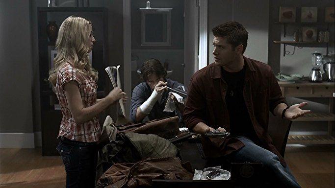 Jensen Ackles, Jared Padalecki, and Alona Tal in Supernatural (2005)