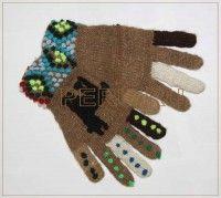 """Перчатки из шерсти лама, альпака """"Пунто"""" арт148 - Шерстяные - пончо, свитера, юбки, платья, куртки, кардиганы, накидки, пледы, детские свитера, шапки, шарфы, рейтузы, футбольки, ковры, рубашки, безрукавки, летные платья, палантины - ПЕРУ"""