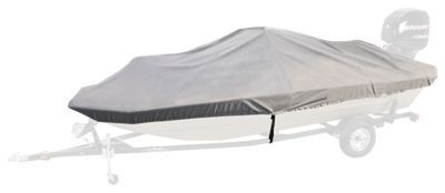 Bass Pro Shops Select Fit Hurricane Boat Covers for Conventional Bass Boats with Outboard - Gray - 76''