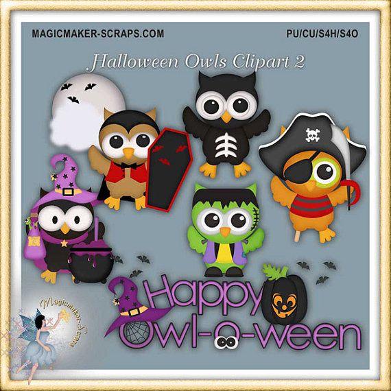 Clipart del gufo di Halloween