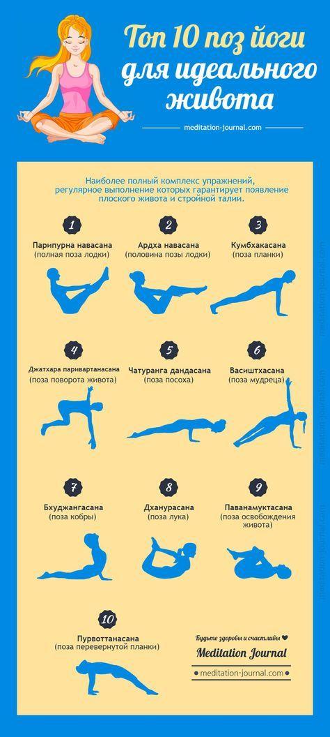 Топ 10 поз йоги для идеального живота - Meditation Journal