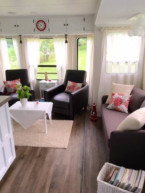 Best Motorhome Living Images On Pinterest Rv Living Camp - Old shabby trailer gets one hell makeover