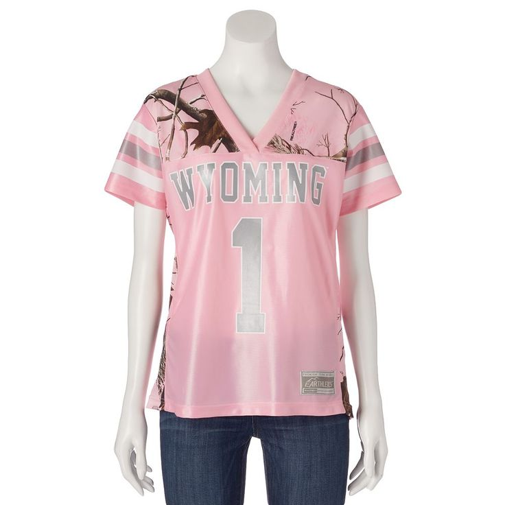 Women's Realtree Wyoming Cowboys Game Day Jersey, Size: Medium, Pink