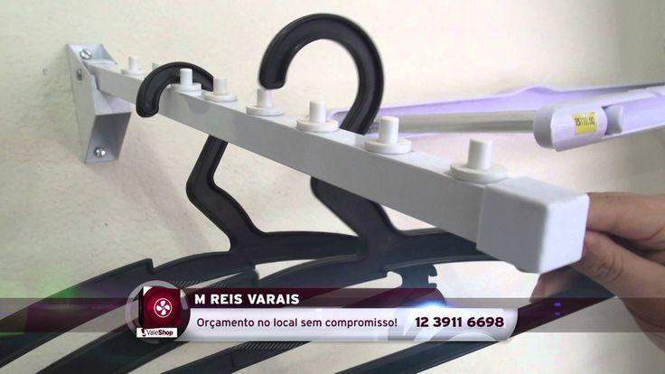 Na M. Reis Varais, tem cabideiro articulado para 8 cabides e retrátil para 16 cabides!