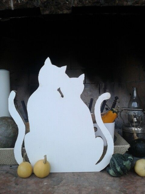 ♥I gatti innamorati♥ In legno di recupero. Fatti a mano.€65