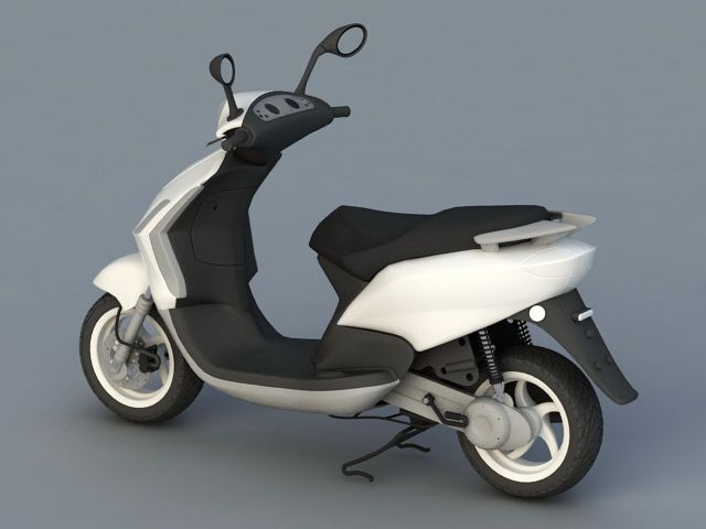 Moped Motorcycle 3d model 3ds Max files free download