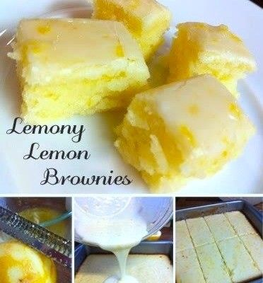 Lemony Lemon Brownies #brownies #lemonbrownie
