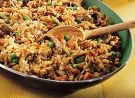 "Szechuan Beef Fried Rice [I'll have to look for another recipe that has ingredients listed as opposed to ""1/3 cup purchased szechuan stir fry sauce""]"
