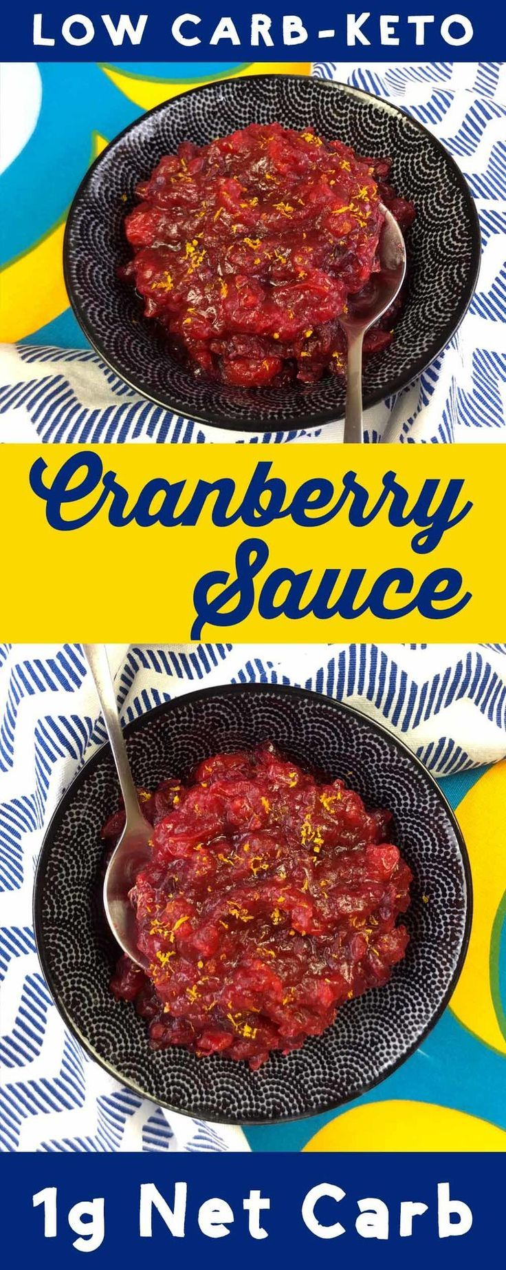 This recipe for Low Carb Orange Cranberry Sauce is Keto, Paleo, THM, Atkins, Banting, LCHF, Sugar Free and Gluten Free It's the perfect accompaniment on turkey day, or anytime you want a treat.  #Keto #paleo #banting #diet #GlutenFree #cranberry
