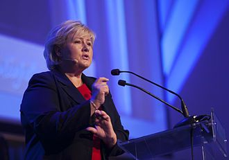 Erna Solberg, the Prime Minister of Norway 2013-