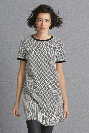 Geo Jacquard Tunic Dress