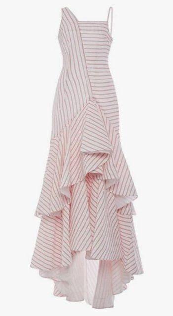 Rosie Assoulin cotton dress with ruffled hem, $1,648.