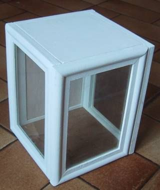 roombox made from picture frames - notice how these overlap at corners to form a square - back frame has had glass replaced by something solid (no instructions)