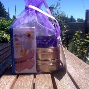 Sweet Feet Treat pack, containing the lemon, Mint & honey foot care products of foot scrub, foot balm, cracked skin 7 heel balm and FREE pedi-egg.
