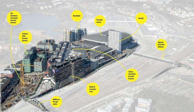 Anläggningen är större än alla andra köpcentrum i Sverige och har en yta för handel som är större än NK, Åhléns, Gallerian och Sturegallerian tillsammans.