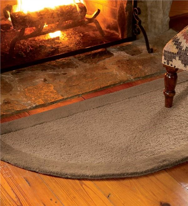 Main image for 2%27 x 4%27 Madrid Banded Half-Round Hearth Rug