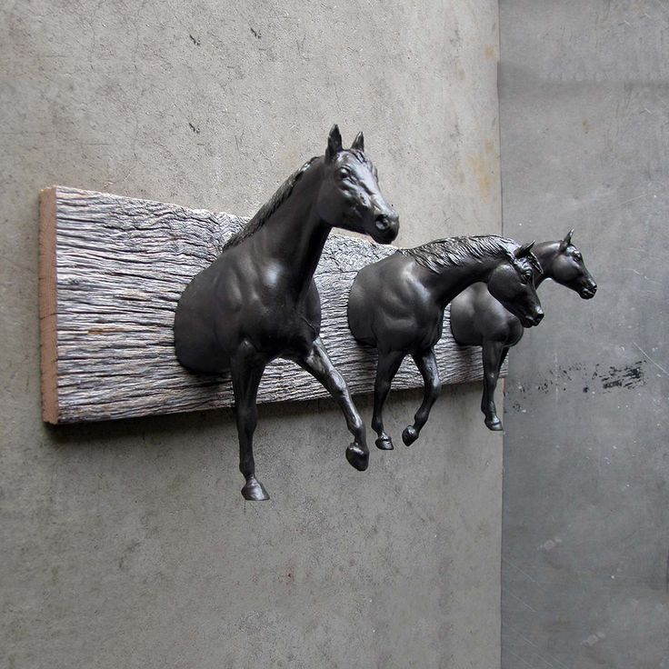 Equine Rack Black II - I am on the look out for some vintage horses now!  I love this!